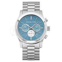 Michael Kors MK5953 Oversize Runway Blue Dial Silver Ladies Watch - $161.95