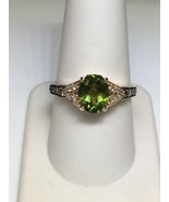 LEVIAN 14K Strawberry Gold Apple Green Peridot Ring w/ Chocolate Vanilla... - $585.00
