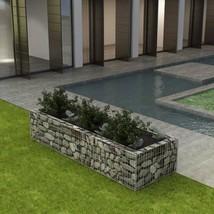 "vidaXL Gabion Planter Steel 106.3""x35.4""x19.7"" Patio Flower Plant Bed Ba... - €66,47 EUR"