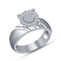 14k White Gold Finish 925 Sterling Silver Womens Wedding Diamond Engagement Ring - $71.99
