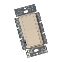 Lutron DVSCCL-153P-TP Diva Dimmable CFL/LED Dimmer, Taupe 1 Pack - $41.17