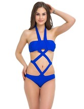 Women Bandage Swimwear Halter One Piece Bathing Suit 1701 (L(US 8-10), ... - $17.17