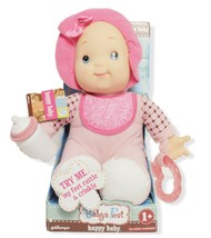 Baby's First Happy Baby Doll 12 Inches Tall Machine Washable - $22.43