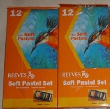 1 new 12 piece reeves soft pastel set 8790125 - $3.50