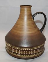 "Vintage West Germany Studio Art Pottery Brown Vase Jug 22cm 8 5/8"" Tall ... - $71.52"
