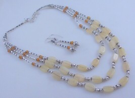 Citrine Handmade Beaded Jewelry Necklace 57  Gr. F-457-25 - $12.59