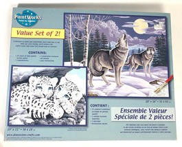 Dimensions PaintWorks Paint by Number 2 Pack - Snow Leopards & Gray Wolves - $78.94