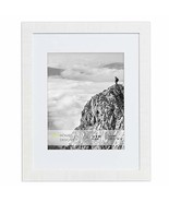 16x20 Frame Matted to 11x14 - Modern White Wall Poster by EcoHome - $34.73