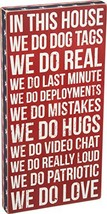 Primitives by Kathy Patriotic-Inspired Box Sign, 10 x 20-Inches, We Do D... - $30.96