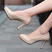 Women's Classic Round-Toe Platform Pumps High Heels Stiletto Office Dress Shoes