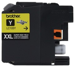 Brother LC105Y Super High Yield XXL Yellow Ink Cartridges - $31.63