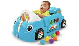 Fisher-Price Laugh & Learn Crawl a Round Car - Blue Interactive Learning... - $90.37