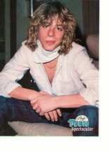 Leif Garrett teen magazine pinup clipping white scarf open shirt jeans 1970's