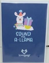 Lovepop LP2598 Happy Birthday Llama Pop Up Card White Envelope Cellophane wrap image 1