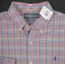 NEW! $90 Polo Ralph Lauren Colorful Plaid Shirt!   *Classic Fit*   *2 Colors* - $44.99
