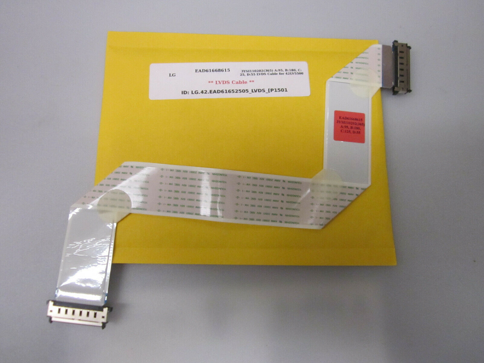 Primary image for LG EAD61668615 3YSI110202(365) A:95, B:180, C:25, D:55 LVDS Cable for 42LV5500