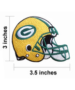 Green Bay Packers Helmet Logo Embroidered Iron On Patches - $1.20