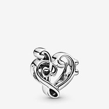 PANDORA Heart Treble Clef 925 Sterling Silver Charm - 798346 - $47.26