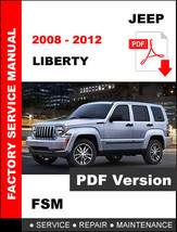 2008 2009 2010 2011 2012 Jeep Liberty 3.7 Gasoline 2.7 L Diesel Workshop Manual - $14.95