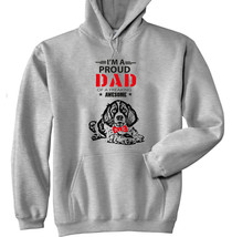 Spring Spaniel - Im A Proud Dad - New Cotton Grey Hoodie - $40.66