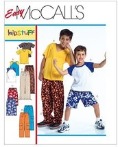 McCall's M4363 Easy Childs / Boys T-Shirts, Shorts and Pants Size 7-16, Uncut FF - $9.00