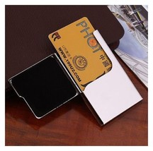 Men's Business Card Holder Stainless Steel Name Credit ID Case Wallet AH6