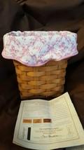 Longaberger 2004 HORIZON OF HOPE Basket Breast Cancer Awareness Liner Pr... - $18.00