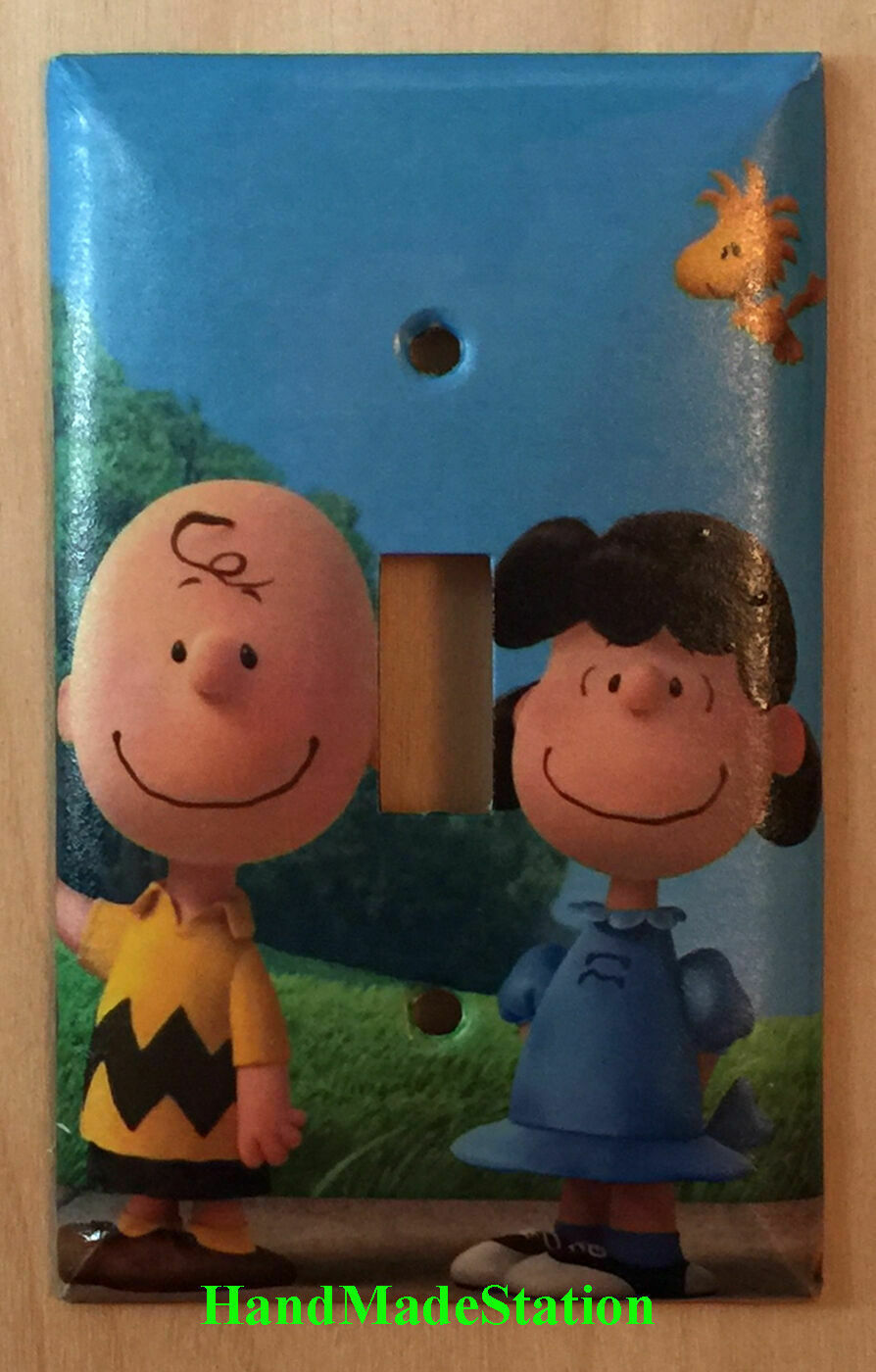 Peanuts Charlie Brown Lucy Woodstock Light Switch Outlet Wall Cover Plate Decor