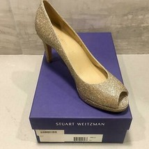 Stuart Weitzman Annamimic Women's Platform Gold Noir Bridal Pumps 9.5 M ... - $77.22