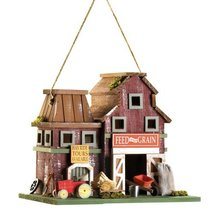 Gifts & Decor Country Farmstead Rustic Barnyard Wooden Bird House - $23.38
