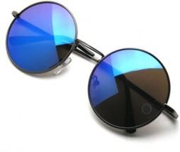 John Lennon Inspired Sunglasses Round Hippie Shades Retro Colored Lenses... - $20.28