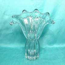 French Crystal Vannes Le Chatel Cristal Vase Made in France Mid Century - $116.09
