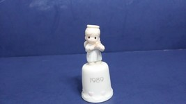 "PRECIOUS MOMENTS 1989 ""OH HOLY NIGHT"" PORCELAIN THIMBLE #522554-NEW. Bow... - $9.80"