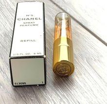 Vintage CHANEL No.5 Spray Perfume 1/5 FL oz Refill 1/2 full original box image 3