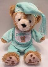 Disney Parks My First Duffy Bear Plush Doll 13 Inch Green Pajamas Hat Bib - $25.24