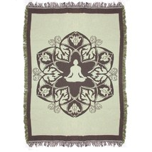 """Simply Home Olive Green Brown Hindi Yoga Tapestry Throw Blanket 49"""" x 69"""" - $418,36 MXN"""