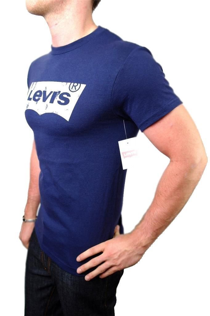 BRAND NEW NWT LEVI'S MEN'S PREMIUM CLASSIC GRAPHIC COTTON T-SHIRT SHIRT TEE BLUE