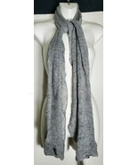 "Eileen Fisher Scarf Moon Wool Cashmere Blend Gray Grey 82"" x 14"" Soft - $49.49"