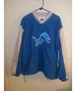 NFL Detroit Lions Authentic NFL Sports Pull-Over Windbreaker Jacket  Siz... - $27.71