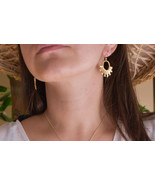 Minimal Gold Bar Earrings, Handmade Modern Jewelry, Bohemian Jewelry - $59.40