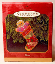 Hallmark: Mom - Thin Gingerbread Stocking - 1999 Holiday Ornament - $11.07