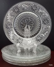 """Indiana Glass Sandwich Salad Luncheon Plates Set of 5 Clear 8-3/8"""" - $35.00"""