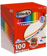 RoseArt Super Tip Assorted Color Washable Markers, 100 Pack [New] Rose Art - $27.77