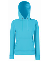 Fotl Lady-fit Classic Hooded Sweat Azure Blue S - $22.49