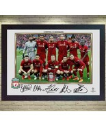 2019 Liverpool FC MO SALAH Mohamed MANE FIRMINO full signed photo poster... - $21.90