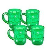 St Patricks Day Beer Mugs Set of 4 Cups St Patrick Celebration Green Sha... - $44.51 CAD