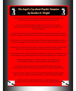 The Angel's Cry About Psychic Vampires  - Printable Poetry Instant Download - $1.98