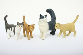 Schleich pets 4 cats - domestic, maine coon, tiger striped - $24.99