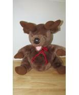 """Disney 14"""" Plush reindeer pot round belly red cord neck tie - $9.89"""