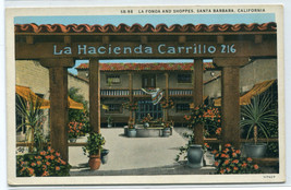 La Fonda Shoppes Shops Santa Barbara California 1920s postcard - $6.93